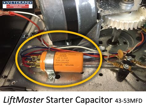 garage door opener capacitor replace the starter capacitor on a garage door opener