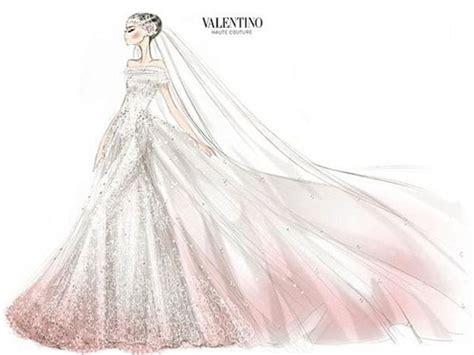 desain lop wedding el boceto del vestido de novia de anne hathaway creado por