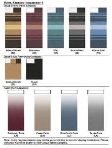 carefree colors fabric colors mobile rv awnings sales parts service