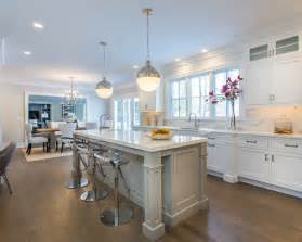 Eat in kitchen design in montreal with shaker cabinets white cabinets
