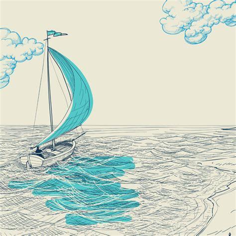 sailing boat elements hand drawn sailboat vector 03 free download