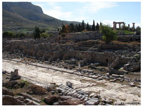 ancient greek roads ancient corinth lechaion road photo from ancient