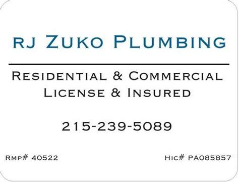 Pa Plumbing License by Rj Zuko Plumbing