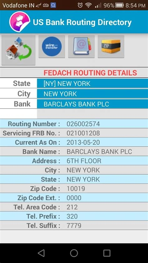 bank ach number us routing number directory android apps on play