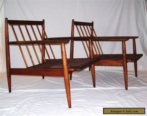 Mid Century Modern Lounge Chairs For Sale by Pair Of Vintage Walnut Mid Century Modern