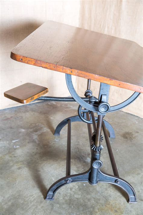 vintage drafting table vintage american drafting table by hamilton at 1stdibs