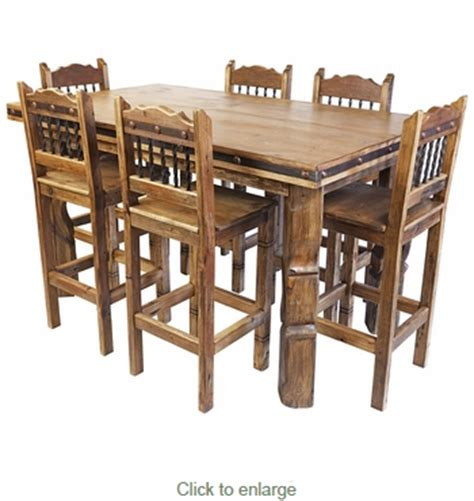 Rustic Counter Height Dining Table Sets Rustic Wood Counter Height Dining Table Set With 6 Bar Stools
