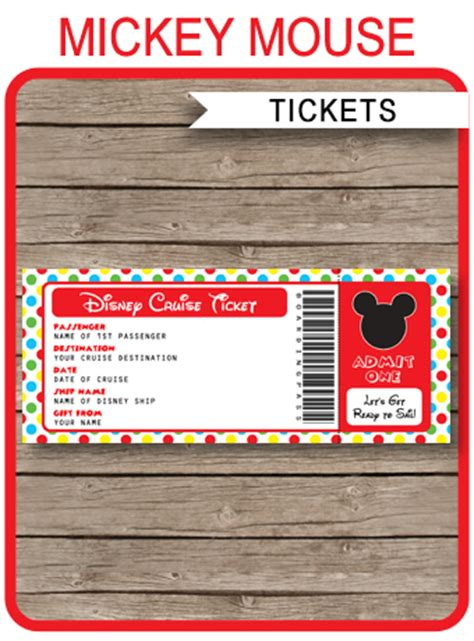 free printable cruise ticket template disney cruise surprise gift ticket mickey mouse boarding