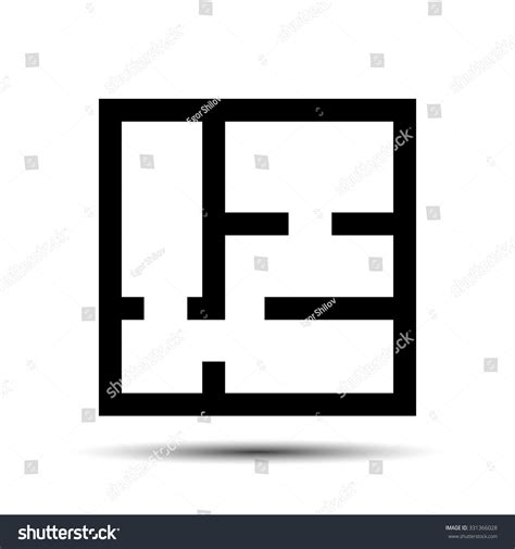 Floor Plan Icon by Floor Plan Icon Drawing Stock Vector 331366028 Shutterstock