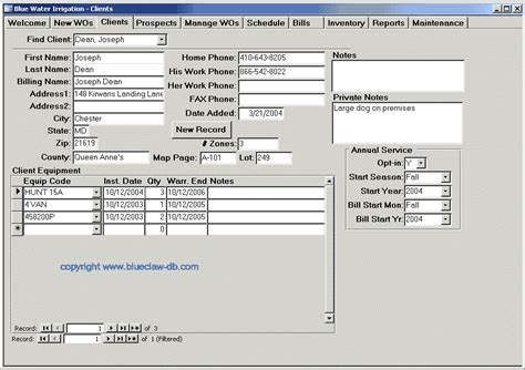 work order database template work order template