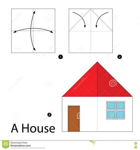 step by step how to make origami a house