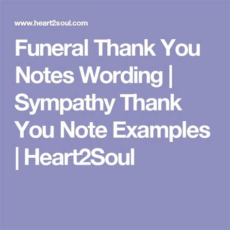 Thank You Letter Quotes Funeral Thank You Notes Wording Sympathy Thank You Note Exles Heart2soul