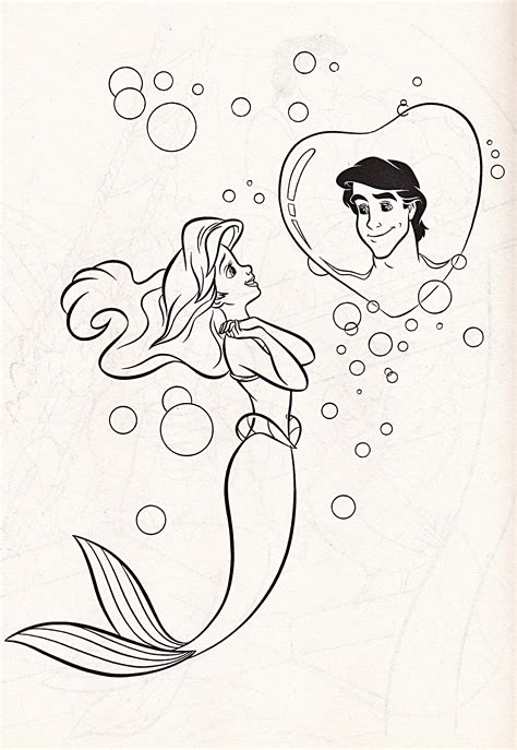 Drawings Of Disney Characters Coloring Pages Memes Princess Ariel And Eric Coloring Pages Printable