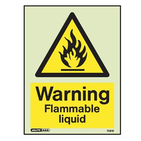 Warning Signs After Section by Flammable Warning Signs 163 8 89 Ex Vat