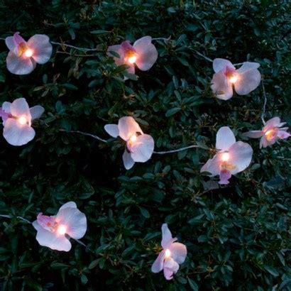 orchid string lights solar orchid garden string lights