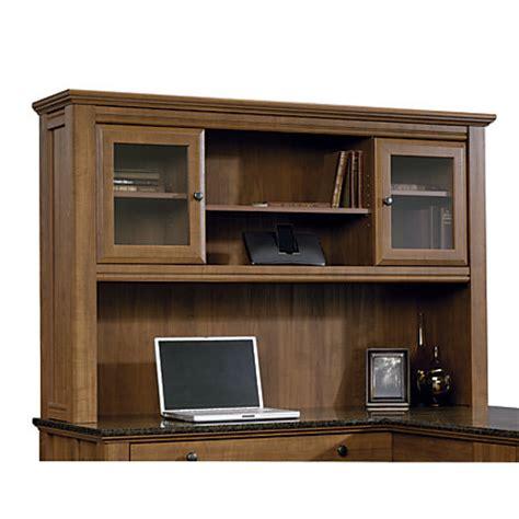 sauder appleton collection hutch for l desk sand pear by