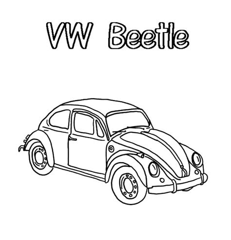 volkswagen beetle sketch sketch volkswagen beetle coloring pages