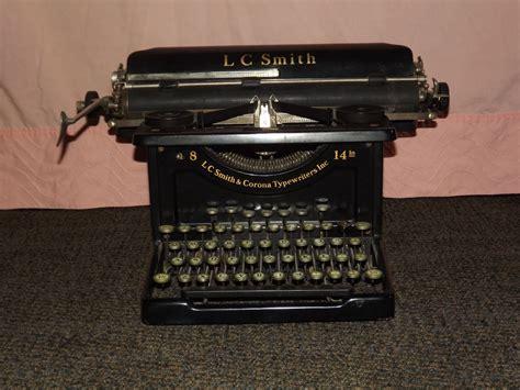 vintage 1920 30s l c smith corona 8 14 in typewriter ebay