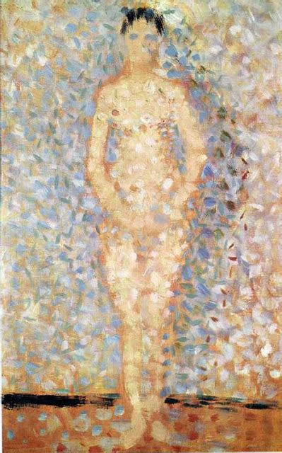 seated model side view 1887 georges seurat oil arte pointillism georges seurat 12