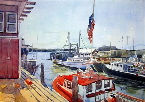 boat canvas portland maine portland maine harbor painting by spencer meagher
