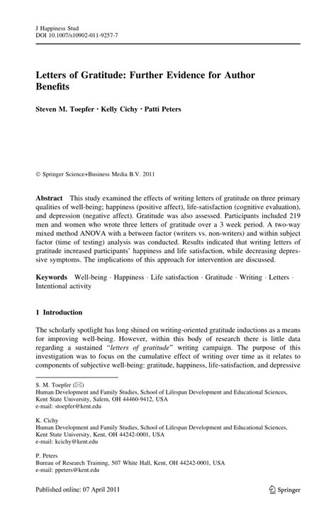Letter Gratitude letters of gratitude further evidence pdf