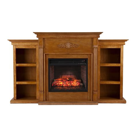 tennyson bookcase electric fireplace 70 25 tennyson glazed pine infrared electric fireplace w