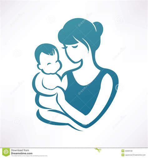 clipart bambino mamma e bambino illustrazione vettoriale immagine 45069128