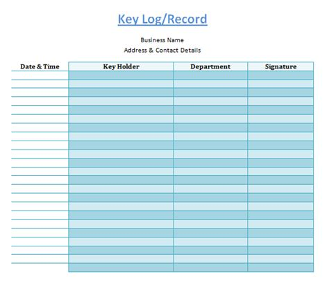 key log template key log template log templates