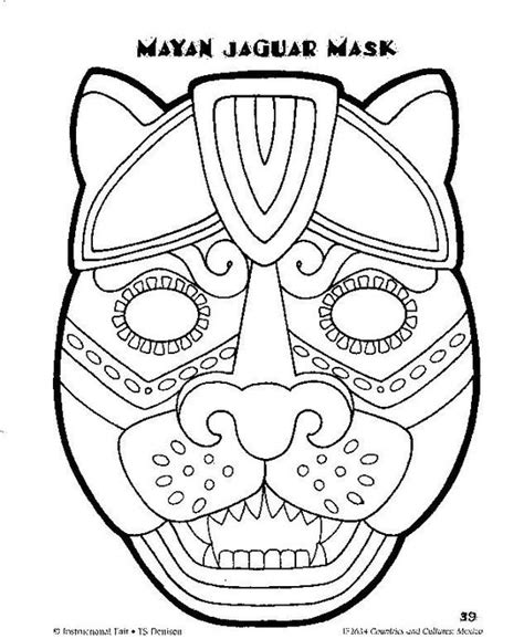 aztec mask template the world s catalogue of ideas