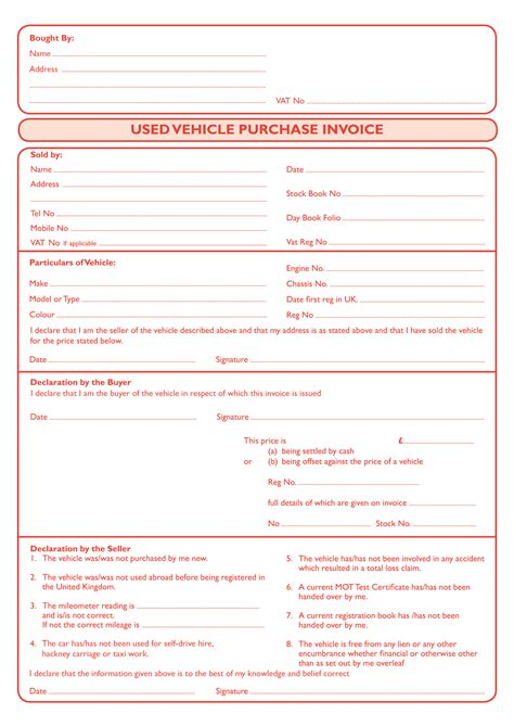 sle invoice template uk car sale invoice hardhost info