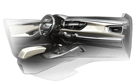 kia rio interior design sketch render car body design