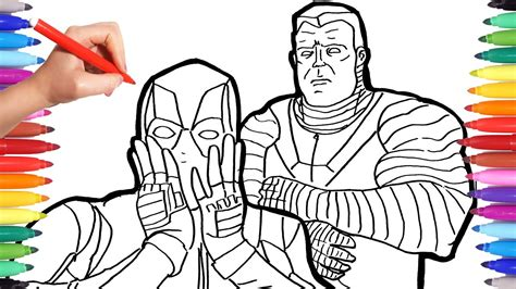 deadpool coloring book marvel deadpool coloring pages how to draw
