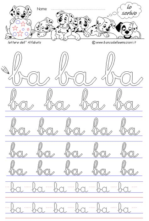 lettere corsivo minuscolo corsivo minuscolo ba