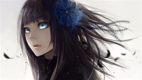 Anime Girl With Black Hair And Blue Eyes | forum