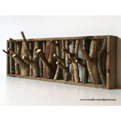 cool coat rack rustic wood decorating ideas for your country home