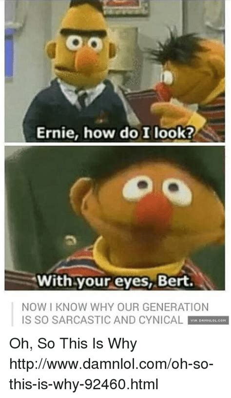 25 Best Memes About How Do I Look With Your Eyes Bert