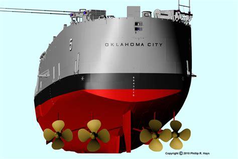 uss oklahoma city cad model hull and deck