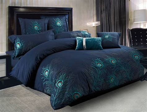 peacock feather comforter set peacock feather by seasontex beddingsuperstore com