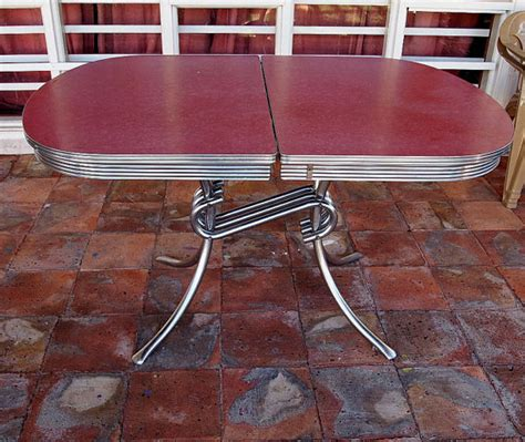 Retro Chrome Kitchen Table Vintage Formica Kitchen Table Raspberry Chrome Spider Legs