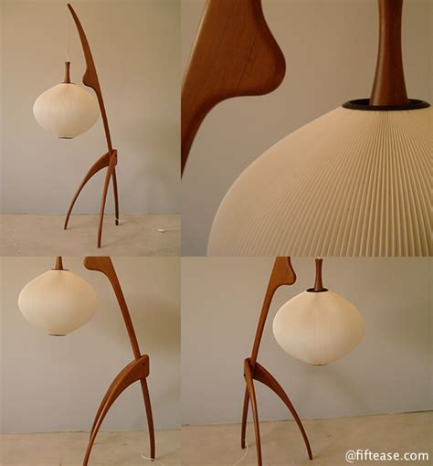 Lamp Designer j rispal tripod floor lamp in structure wood of free