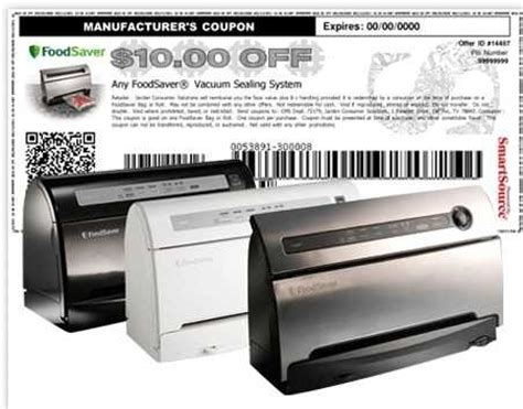 printable foodsaver bag coupons food saver coupons 10 off food saver system 2 off