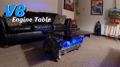 engine block coffee tables v8 engine block table with leds jordans project