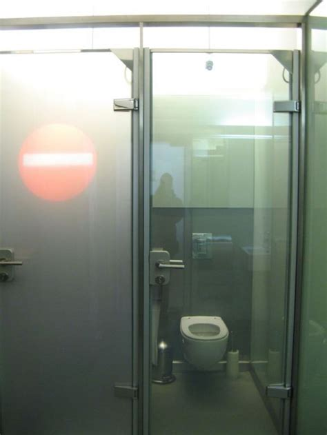 see through public bathroom see through toilet stalls neatorama