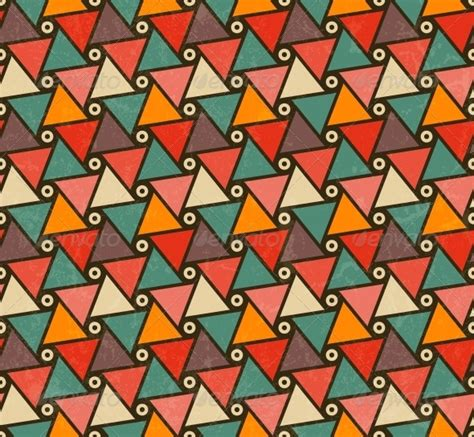 Retro Triangle Pattern retro pattern of triangle shapes by evdakovka graphicriver