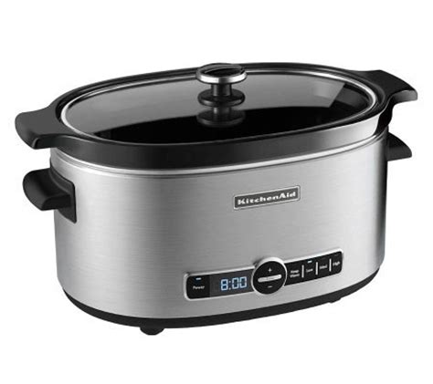 qt programming in 24 hours kitchenaid 6 qt slow cooker stainless page 1 qvc com