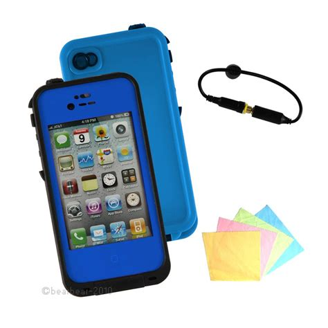 Waterproof Shockproof Cover For Apple Iphone 4 4s waterproof defender for iphone 4 4s 4th shockproof