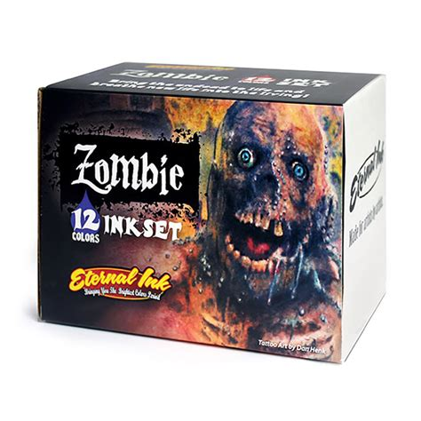 tattoo ink dried up 12 color eternal tattoo ink tattoo ink zombie color set