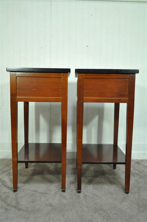 Quality Nightstands Pair Of Country Style Cherry Nightstands End Tables