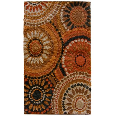 orian rugs lowes shop orian rugs merrifield rectangular orange transitional woven accent rug common 2 ft x 3 ft