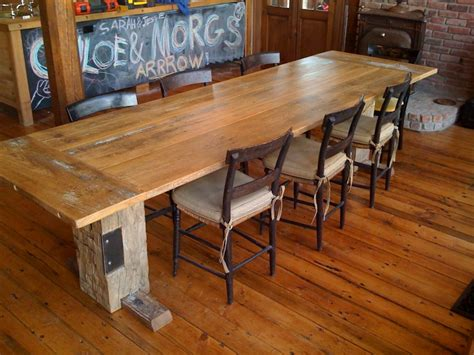 barn wood dining room table reclaimed barn wood dining table trellischicago